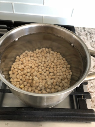 soaked chickpeas